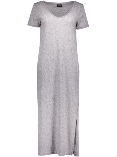 vimarli long dress 14034623 vila jurk light grey melange