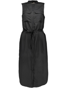 vmjustina s/l calf shirt dress e10 10157514 vero moda jurk black