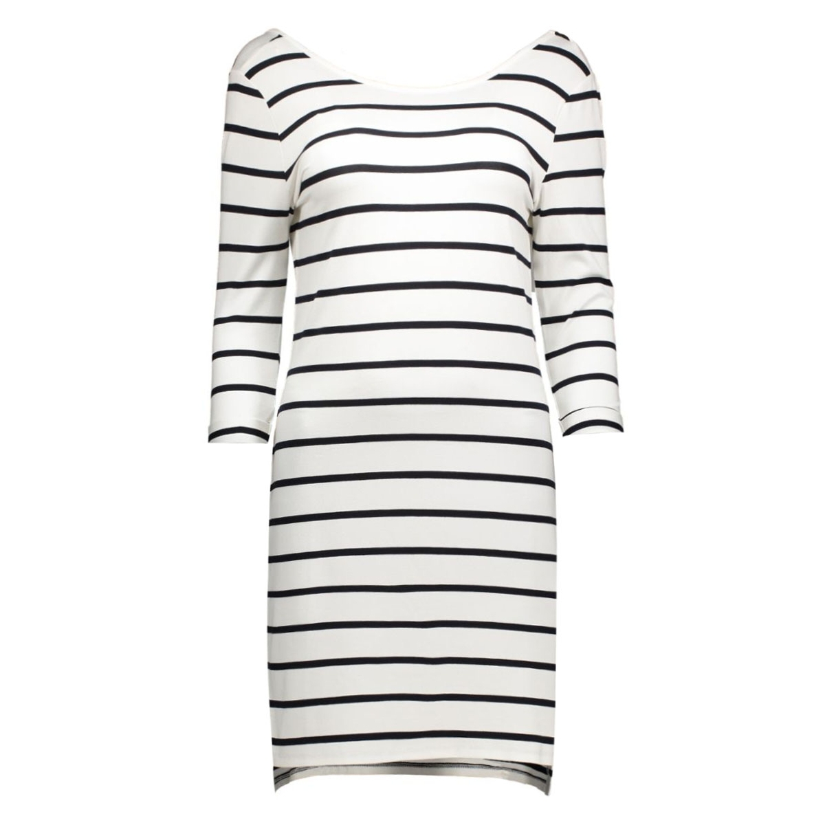 objelona 3/4 dress noos 23021903 object jurk white- noos