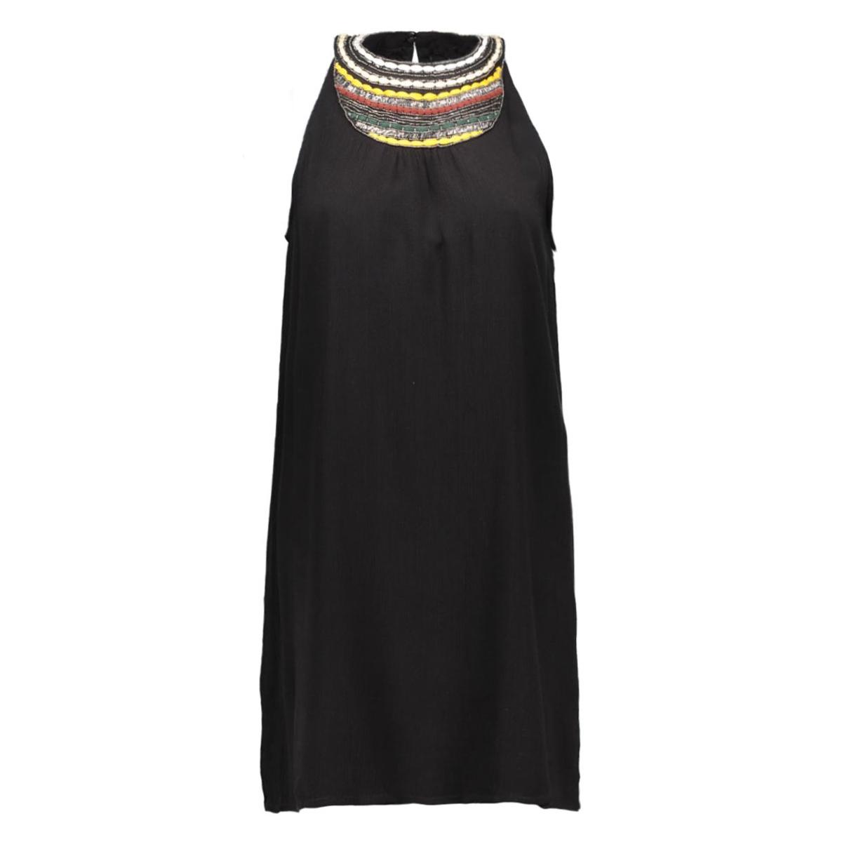 vmzura halterneck short dress dnm 10156182 vero moda jurk black/emb at fro
