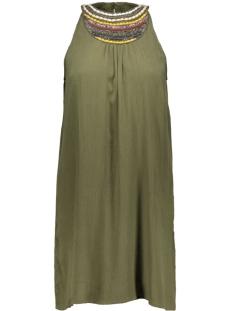 vmzura halterneck short dress dnm 10156182 vero moda jurk ivy green/ emb at fro