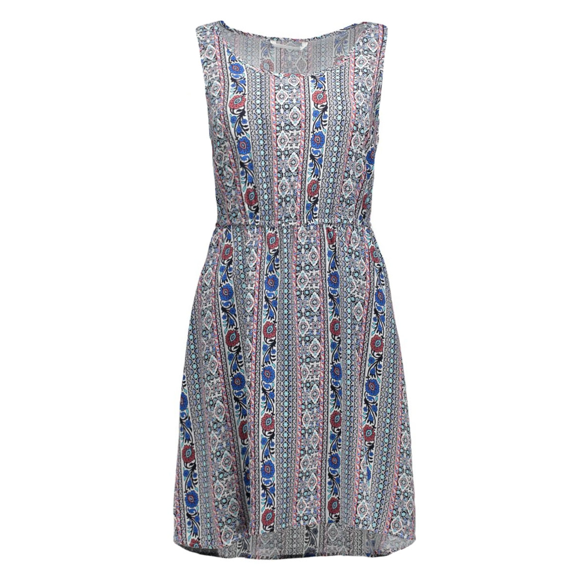 onlnova flower s/l sarah dress wvn 15117799 only jurk cloud dancer/striped
