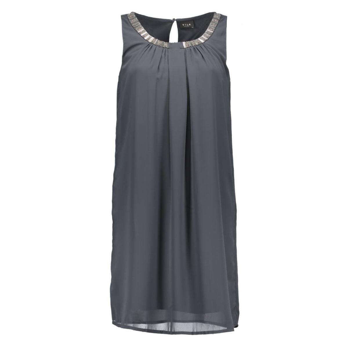 vilette s/l dress 14037477 vila tuniek ebony