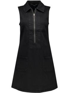 onlmarie zip detail s/l dress dnm q 15119629 only jurk black