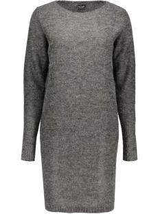 viriva rib dress-noos 14036027 vila jurk dark grey melange