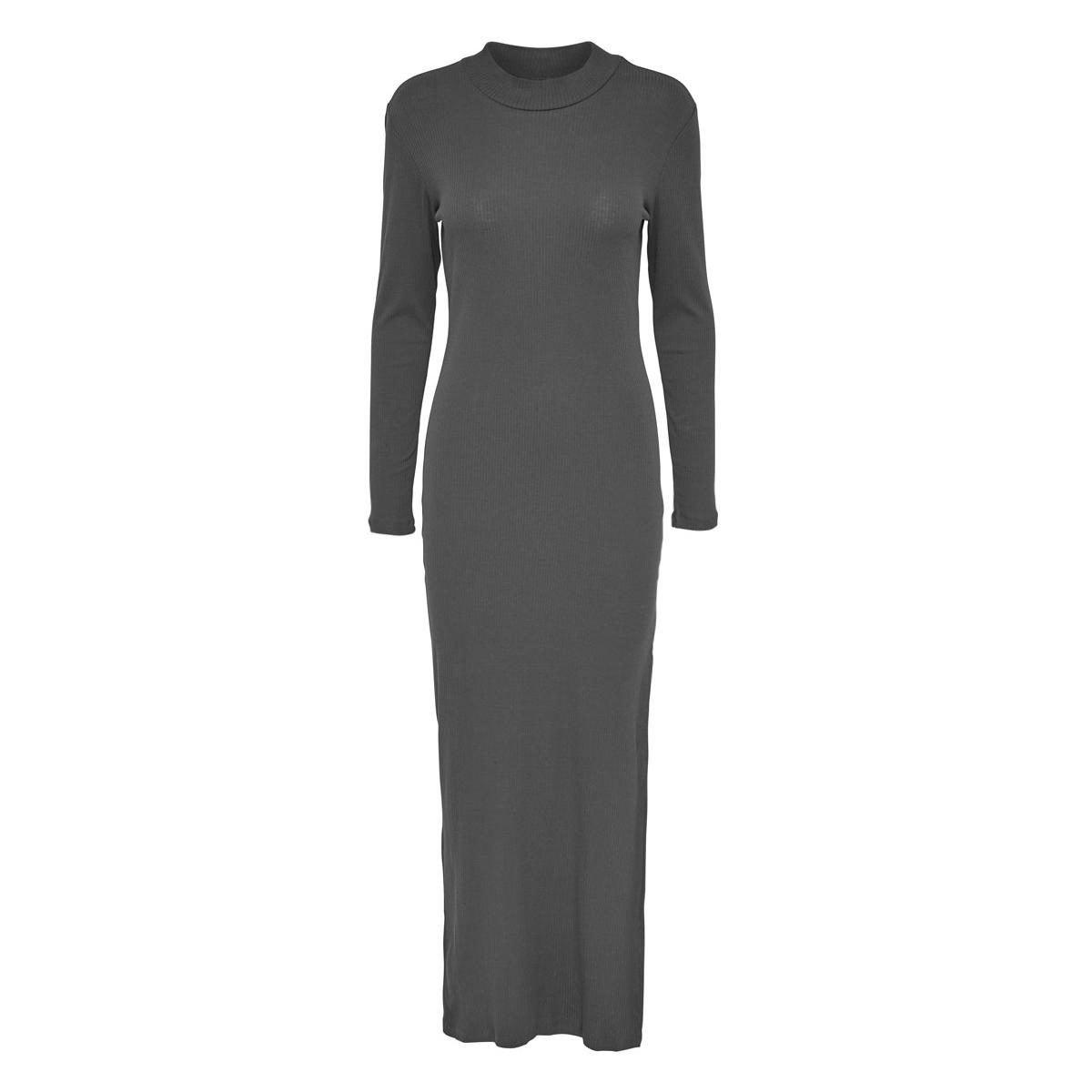 jdyribby l/s dress jrs 15117769 jacqueline de yong jurk dark grey melange