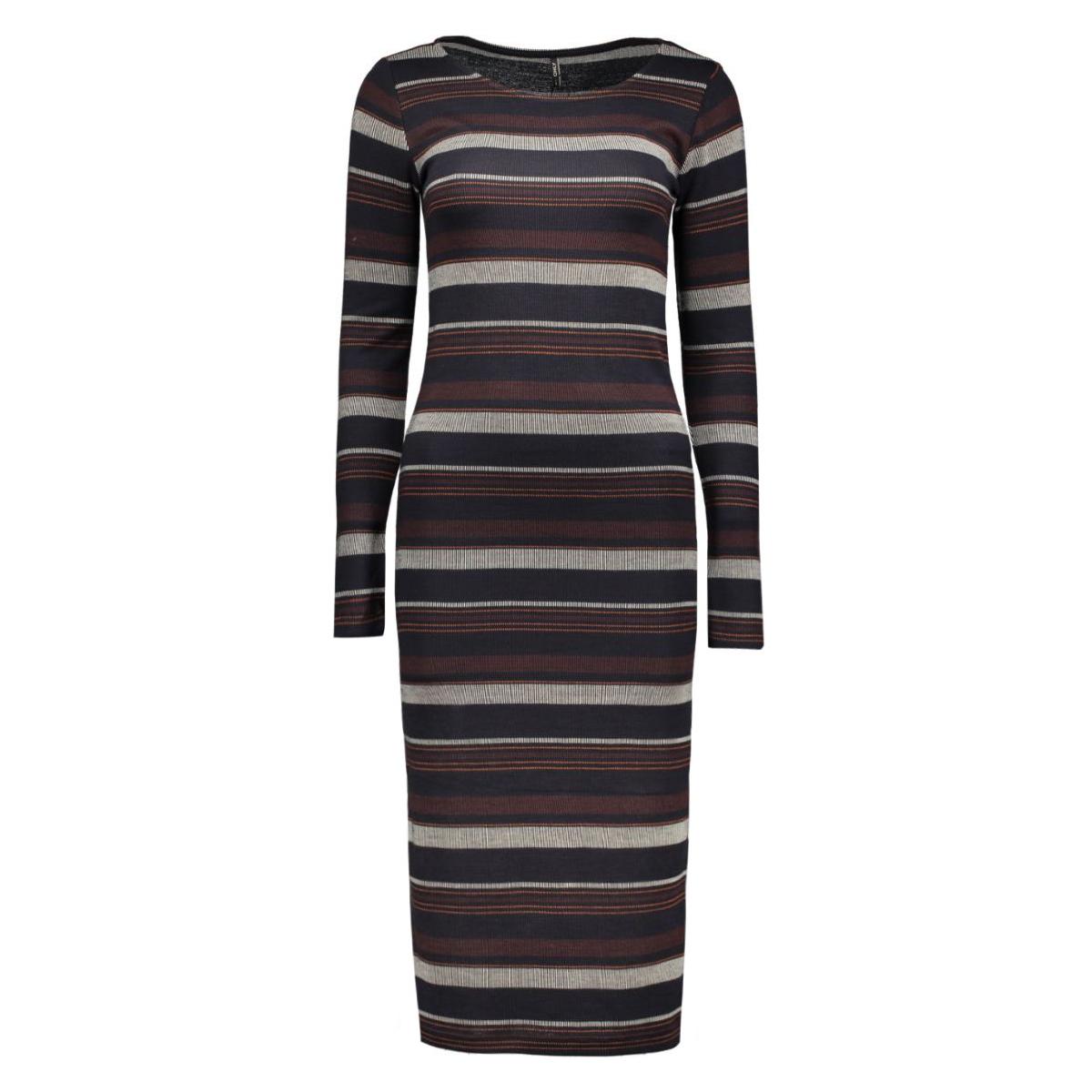 onlnew brooks l/s calf dress ess 15125079 only jurk whitecap gray/worker