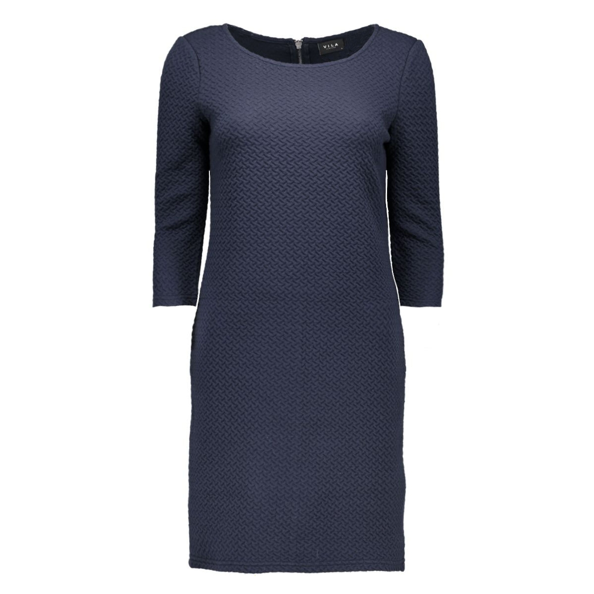 vinaja 3/4 sleeve dress-noos 14036251 vila jurk total eclipse