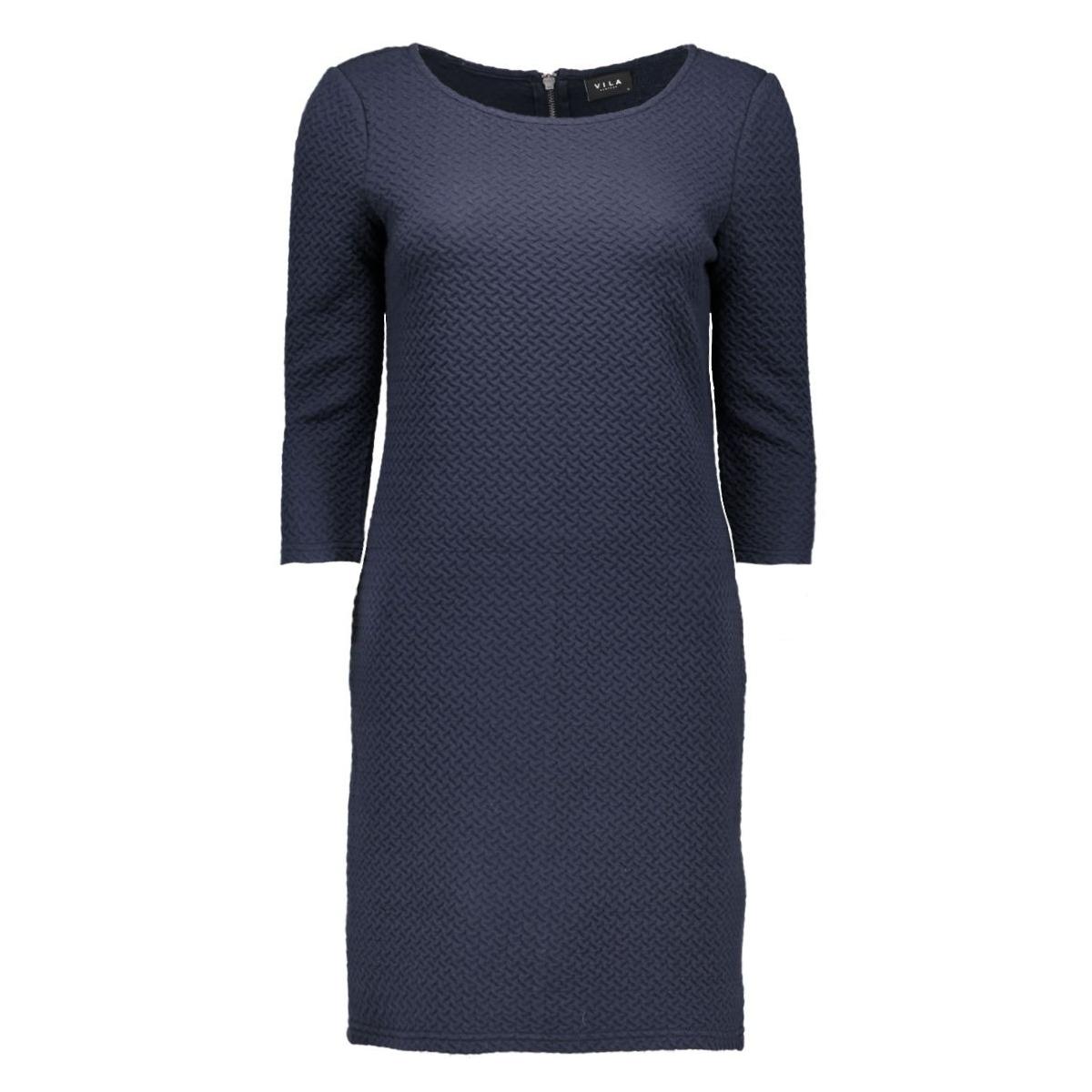 vinaja 3/4 sleeve dress-noos 14036251 vila jurk total eclipse