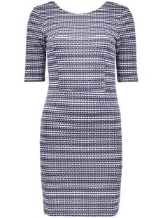 vmbina 2/4 short dress dnm jrs 10162869 vero moda jurk navy blazer/ with snow