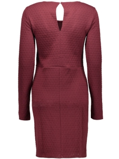 virikka l/s dress 14036931 vila jurk tawny port