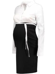 mlebba l/s shirt mix dress 20006374 mama-licious positie jurk black