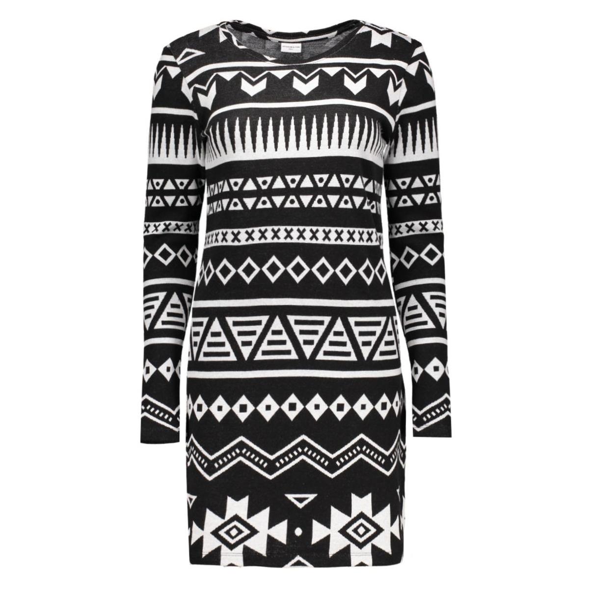 jdygetty l/s dress jrs 15123521 jacqueline de yong jurk black/getty aztek