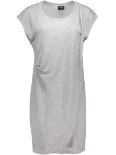 visumina s/s dress gv 14036903 vila jurk light grey melange