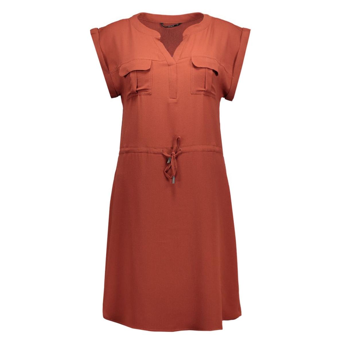 onlvertigo s/s short dress wvn 15123566 only jurk henna