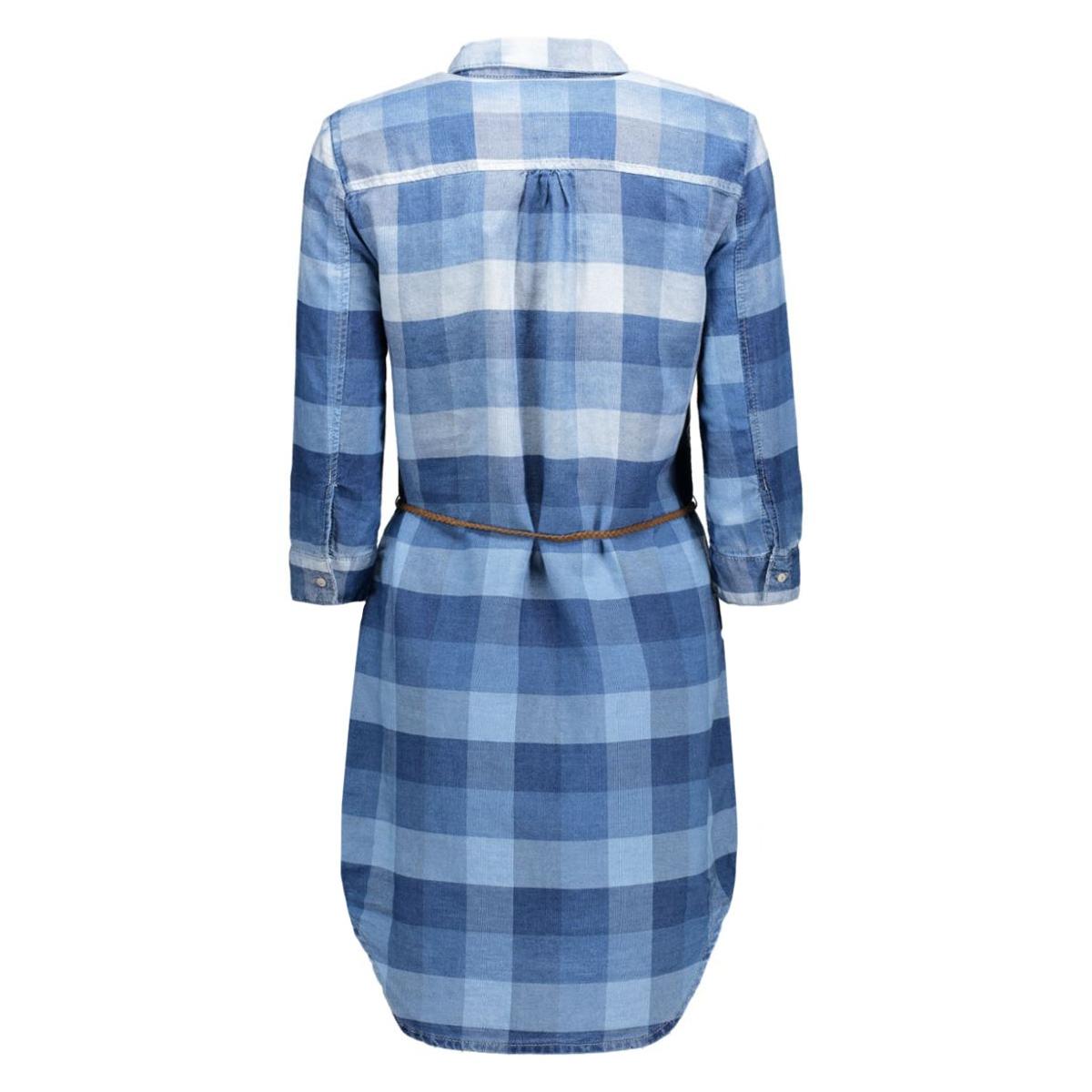 onlhenna check dmm dress bj 15123182 only jurk medium blue denim