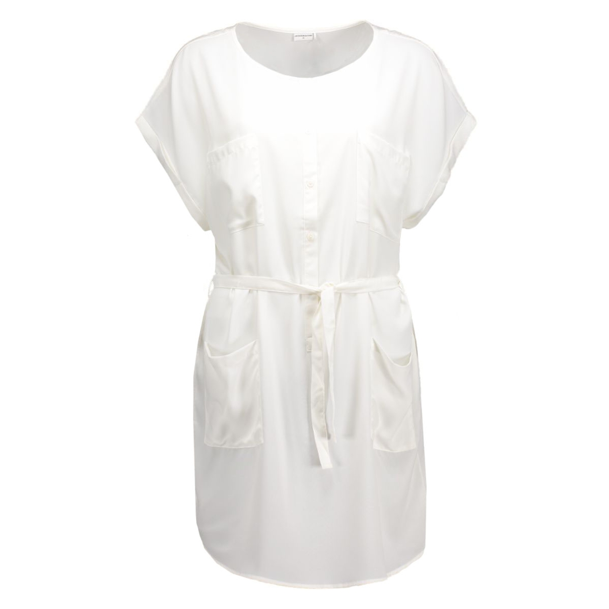 jdyjane s/s shirt dress  wvn 15117780 jacqueline de yong jurk cloud dancer