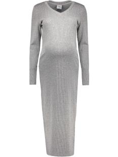 mlmelow 3/4 knit dress 20006264 mama-licious positie jurk medium grey melange