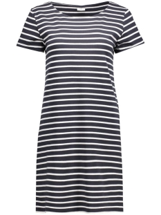 jdystripy s/s dress jrs rpt1 15131954 jacqueline de yong jurk dark navy/cloud dancer