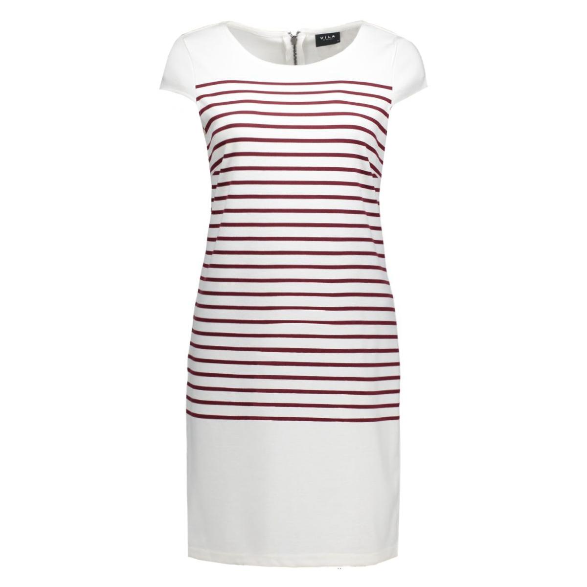 vitinny cap sleeve dress 14036939 vila jurk snow white/tawney por