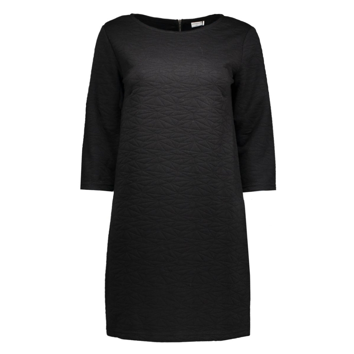 jdycase 3/4 zip dress swt 15126309 jacqueline de yong jurk black