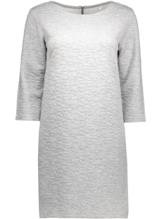 jdycase 3/4 zip dress swt 15126309 jacqueline de yong jurk light grey melange
