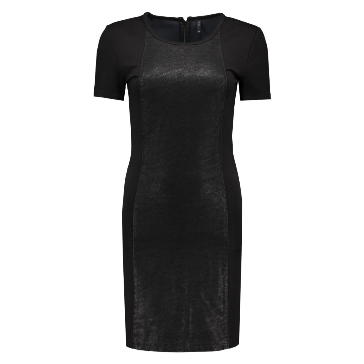 onleffort mix faux leather dress ot 15121599 only jurk black