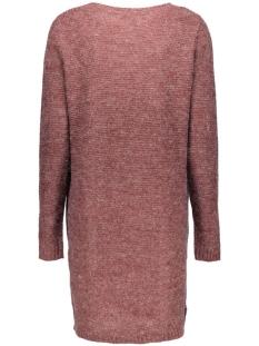 viriva rib dress-noos 14036027 vila jurk tawny port