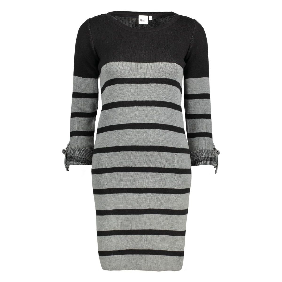 objmy l/s dress noos 23022846 object jurk black w. mgm stripes
