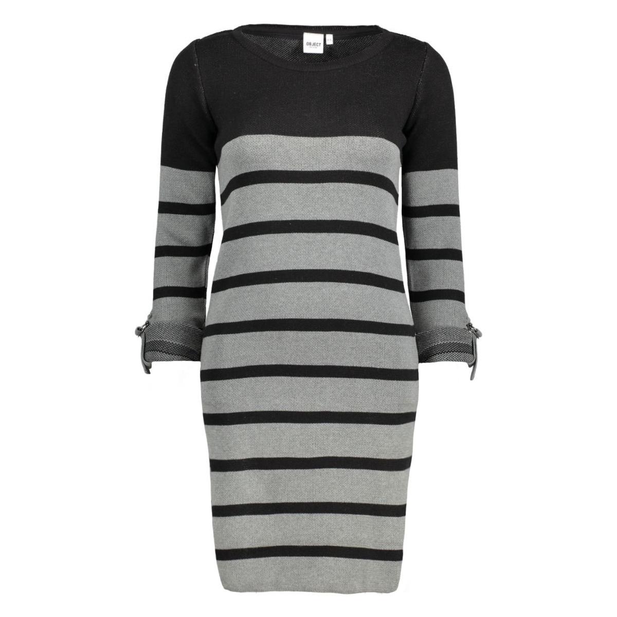 objmy l/s dress noos 23022846 object jurk black w. mgm stripes