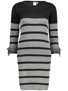 Object Jurk OBJMY L/S DRESS NOOS 23022846 Black w. MGM stripes