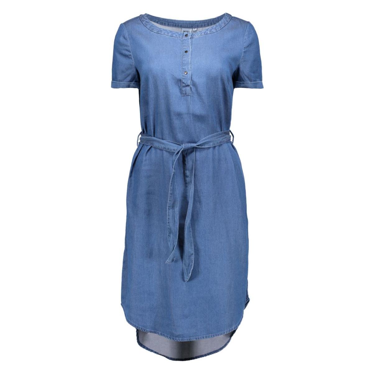 objnoa s/s dress  23024268 object jurk medium blue denim
