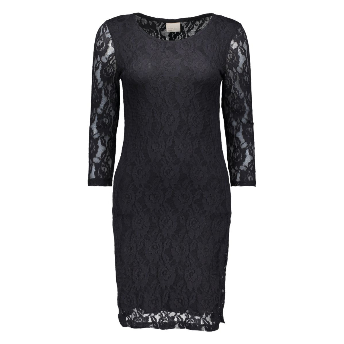 vmlilly lace 3/4 short dress noos 10157331 vero moda jurk black