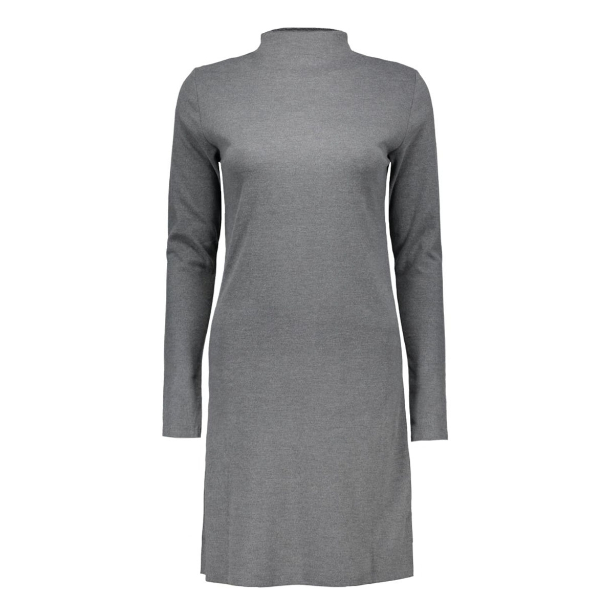 viklatra l/s dress 14037128 vila jurk medium grey melange