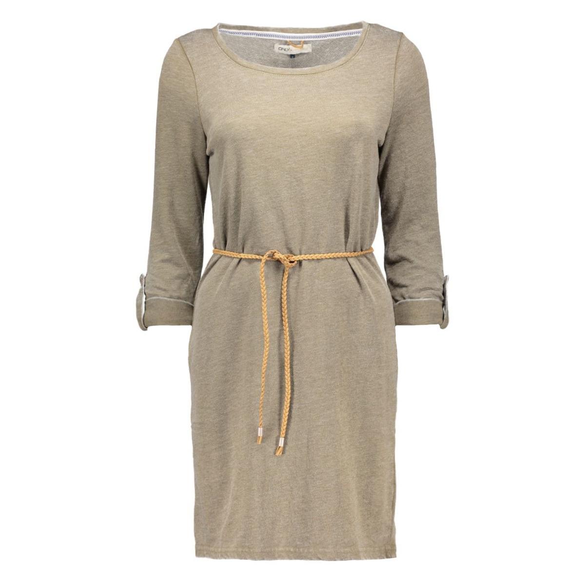 onlsienna monica 3/4 dress swt 15128123 only jurk grape leaf