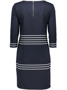 vitinny 3/4 port stripe dress 14036942 vila jurk total eclipse/snow white