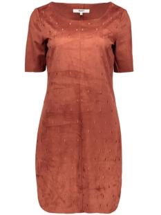 Object Jurken OBJPENNY FAUX SUEDE KNEE DRESS 23023120 Rosewood