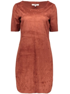 objpenny faux suede knee dress 23023120 object jurk rosewood