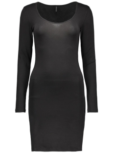LIVE LOVE LS O-NECK DRESS 15077077 Black