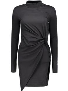 NMWALSH L/S HIGH NECK MINI DRAPE DRESS 10162929 Black