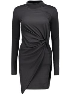 Noisy may Jurk NMWALSH L/S HIGH NECK MINI DRAPE DRESS 10162929 Black