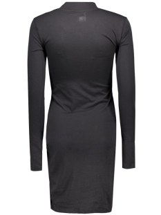 nmwalsh l/s high neck mini drape dress 10162929 noisy may jurk black