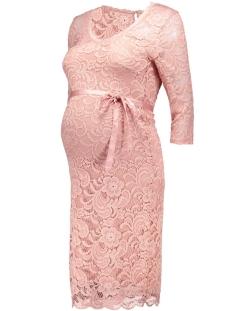 mlnewmivana 3/4 jersey dress 20006375 mama-licious positie jurk misty rose