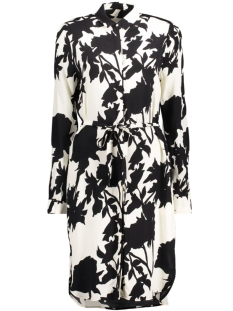 InWear Jurk Gaia Shirt Dress 30101822 11071 Monocrome Flower