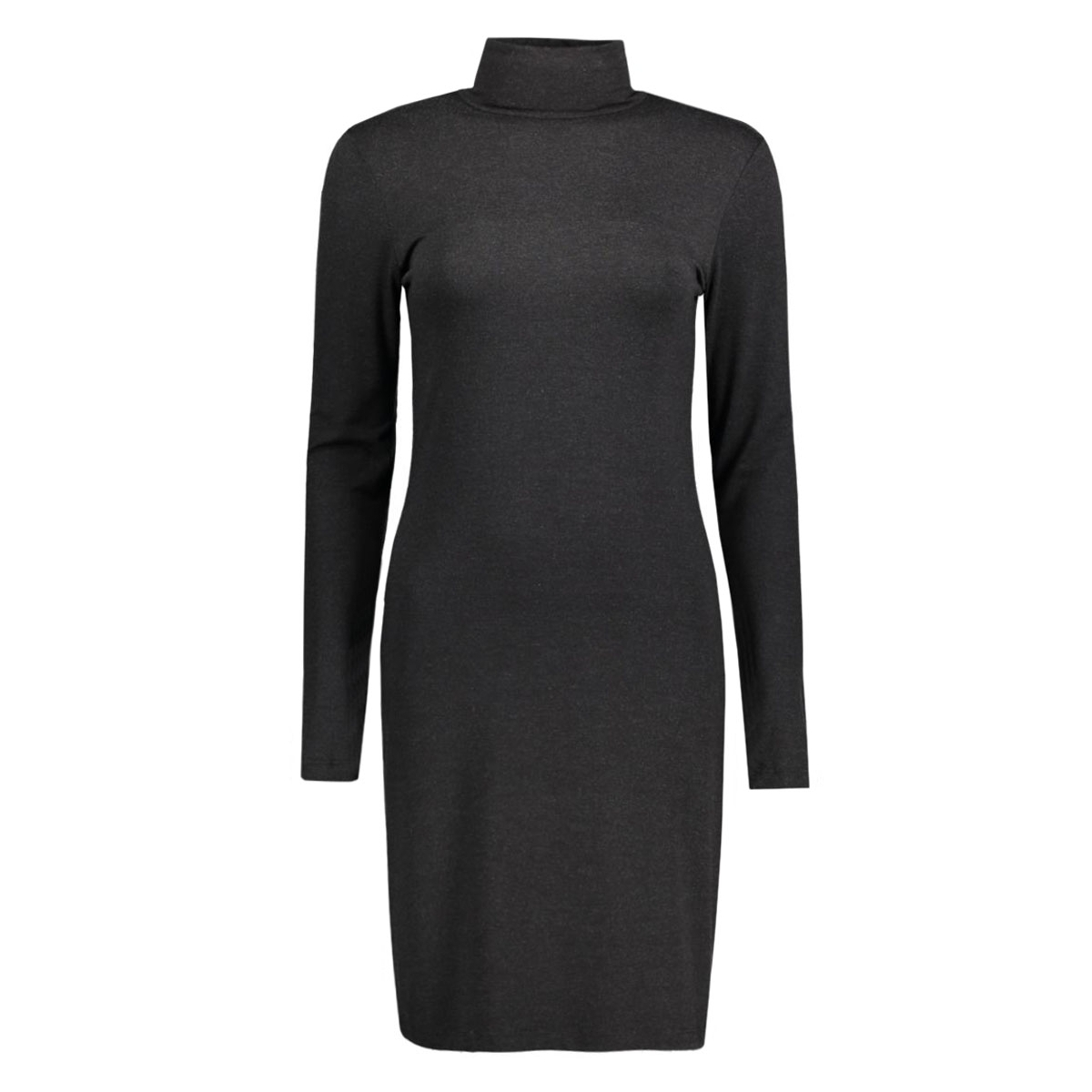 pcmila ls turtleneck dress 17071292 pieces jurk dark grey melange