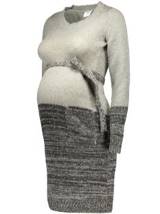 Mama-Licious Positie jurk MLRYKER L/S KNIT DRESS 20006589 Light Grey Melange
