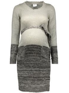 mlryker l/s knit dress 20006589 mama-licious positie jurk light grey melange