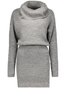 Vila Jurk VIMATCHI ROLLNECK KNIT DRESS 14037090 dark grey melange
