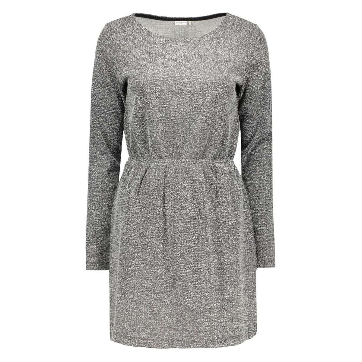 jdyteller l/s dress swt 15117189 jacqueline de yong jurk dark grey melange