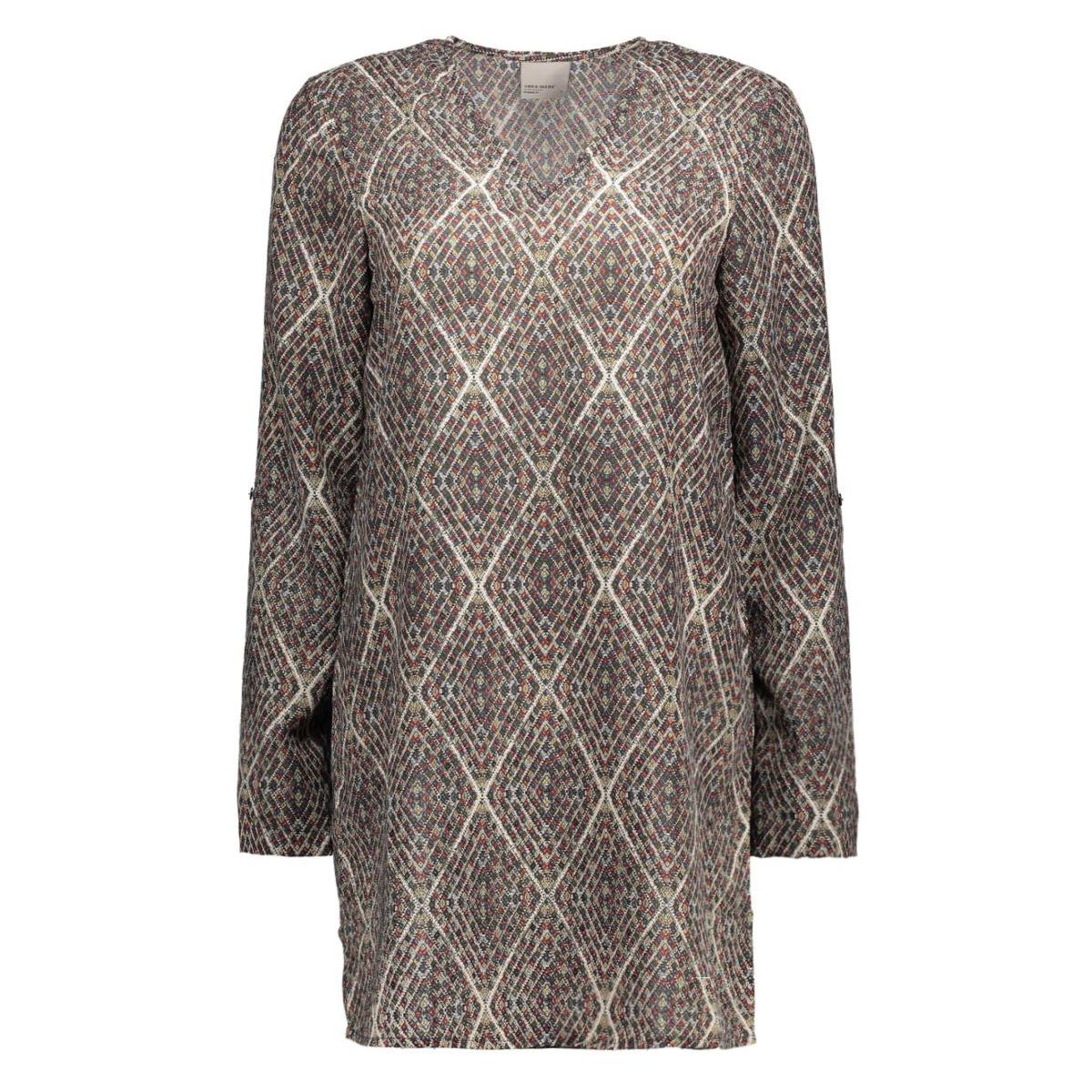 vmgrafika 3/4 mini dress 10170627 vero moda jurk moonbeam/grafika co